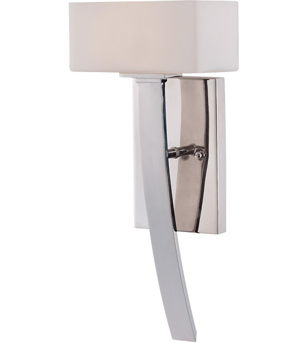 Savoy House 9-7043-1-109 Nordic 1 Light 7 inch Polished Nickel Sconce Wall Light in White Opal Etched photo