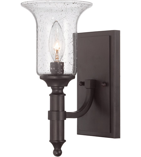 Savoy House 9-7134-1-13 Trudy 1 Light 5 inch English Bronze Sconce Wall Light in Seeded photo
