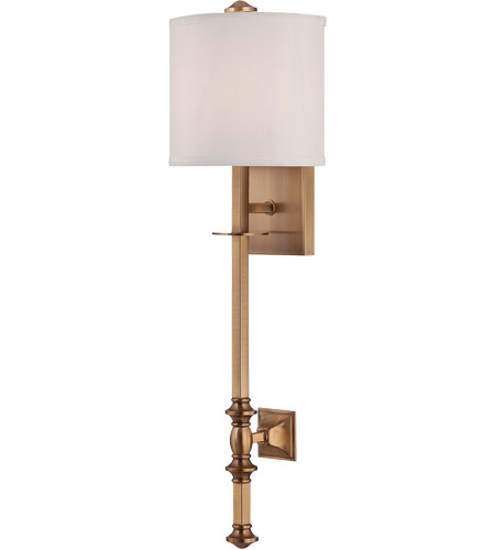 Savoy House Devon 1 Light Sconce in Warm Brass 9-7140-1-322 photo