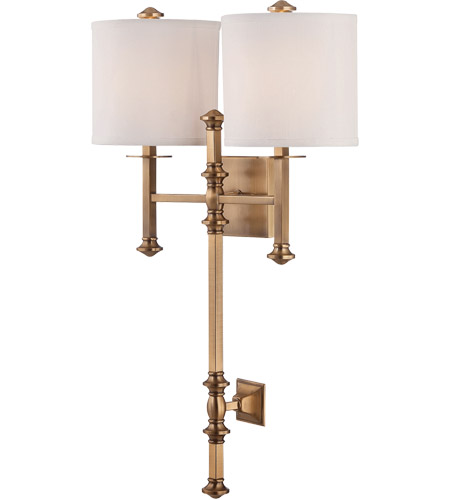Savoy House Devon 2 Light Wall Sconce in Warm Brass 9-7141-2-322 photo