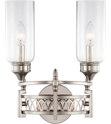 Savoy House Coronado 2 Light Sconce in Polished Nickel 9-7173-2-109 photo