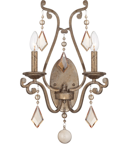 Savoy House Rothchild 2 Light Sconce in Oxidized Silver 9-8104-2-128
