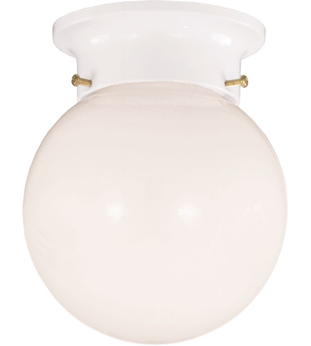 Savoy House 904-WHT Signature 1 Light 5 inch White Flush Mount Ceiling Light in Opal photo