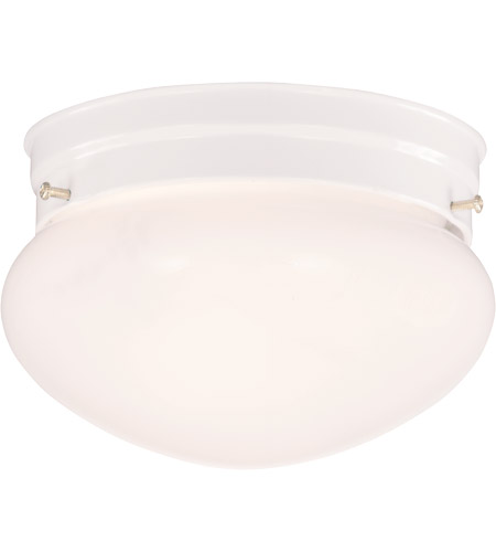 Savoy House Signature 1 Light Flush Mount in White 915-WHT photo