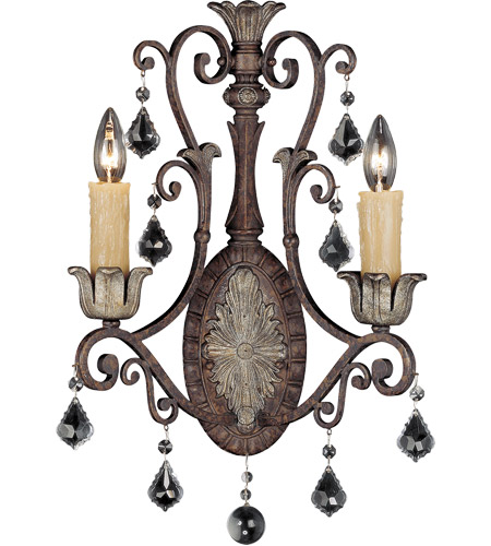 Savoy House 9P-1557-2-8 Elizabeth 2 Light 8 inch New Tortoise Shell with Silver Sconce Wall Light photo