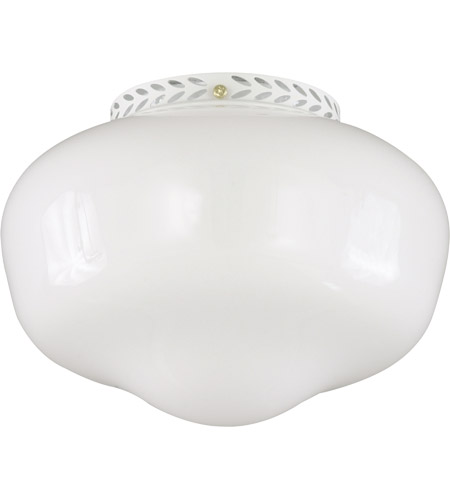 Savoy House FLGC-1102-WH School House 1 Light CFL White Fan Light Kit in White Opal photo