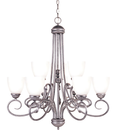 Savoy House Casual Lifestyles Stetson 9 Light Chandelier In Antique Pewter Gz 1 2833 6