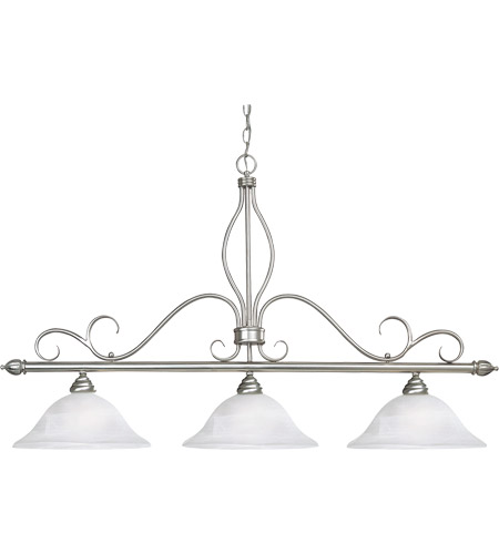 Savoy House Polar 3 Light Island Light in Pewter KP-1-1903-3-69