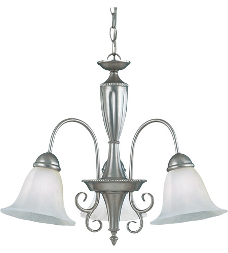 Savoy House KP-1-5002-3-69 Spirit 3 Light 22 inch Pewter Chandelier Ceiling Light in White Marble photo