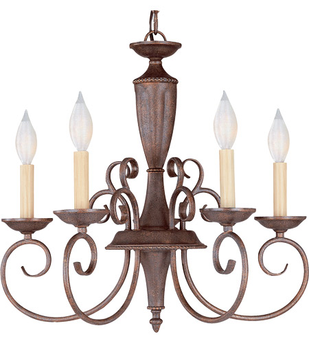 Savoy House KP-1-5005-5-40 Liberty 5 Light 20 inch Walnut Patina Chandelier Ceiling Light photo