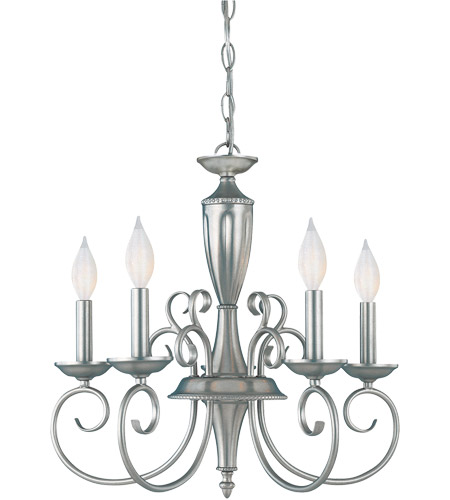 Savoy House Spirit 5 Light Chandelier in Pewter KP-1-5005-5-69
