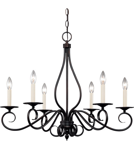 Savoy House Oxford 6 Light Chandelier in English Bronze KP-103-6-13
