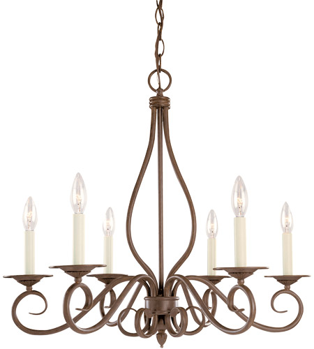 Savoy House Bryce 6 Light Chandelier in Sunset Bronze KP-103-6-91 photo