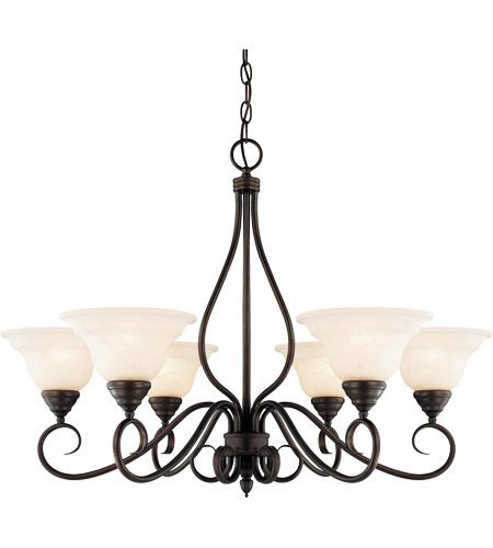Savoy House KP-104-6-13 Oxford 6 Light 33 inch English Bronze Chandelier Ceiling Light photo