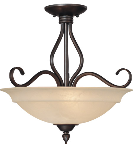 Savoy House Oxford 3 Light Semi-Flush in English Bronze KP-111-3-13