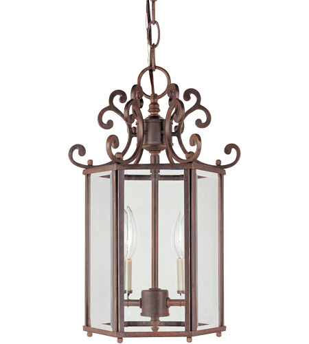 Savoy House KP-3-500-2-40 Liberty 2 Light 10 inch Walnut Patina Foyer Ceiling Light photo