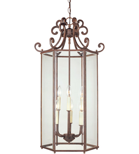 Savoy House Liberty 6 Light Foyer Pendant in Walnut Patina KP-3-503-6-40