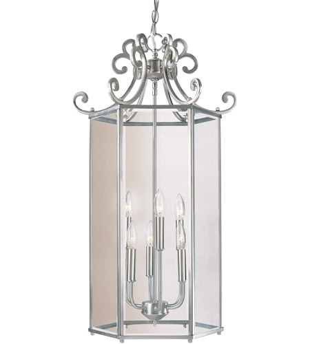 Savoy House Spirit 6 Light Foyer Lantern in Satin Nickel KP-3-503-6-69 photo