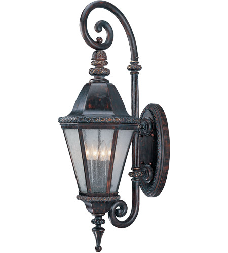 Savoy House Canterbury 4 Light Outdoor Wall Lantern in Bark and Gold KP-5-203-52 photo