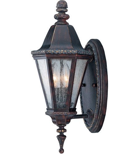 Savoy House Canterbury 2 Light Outdoor Wall Lantern in Bark and Gold KP-5-204-52 photo