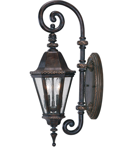 Savoy House Canterbury 2 Light Outdoor Wall Lantern in Bark and Gold KP-5-205-52 photo