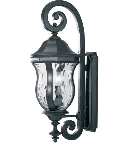 Savoy House Monticello 3 Light Outdoor Wall Lantern in Black KP-5-300-BK
