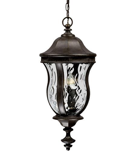 Monticello 3 Light 10 Inch Walnut Patina Outdoor Hanging Lantern