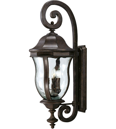 Savoy House Monticello 4 Light Outdoor Wall Lantern in Walnut Patina KP-5-303-40
