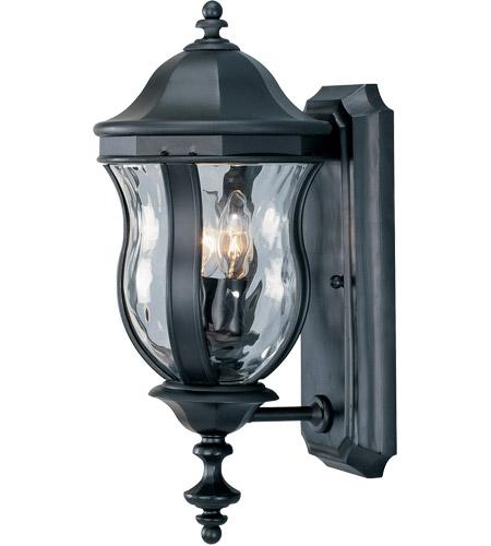 Monticello 2 Light 18 Inch Black Outdoor Wall Mount Lantern
