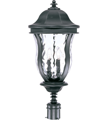 Savoy House Monticello 4 Light Outdoor Post Lantern in Black KP-5-308-BK photo