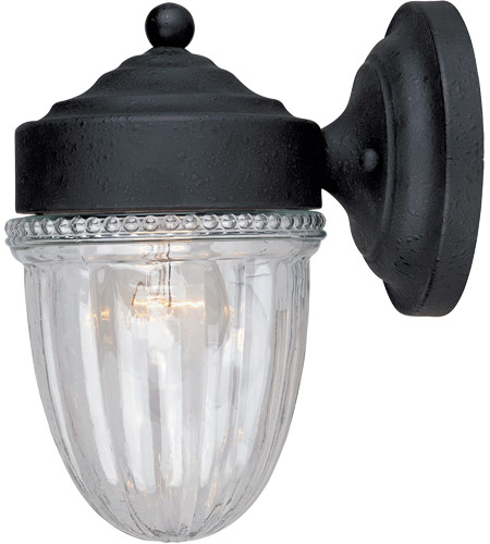Savoy House KP-5-4900C-31 Exterior 1 Light 9 inch Textured Black Outdoor Wall Lantern, Jelly Jar photo