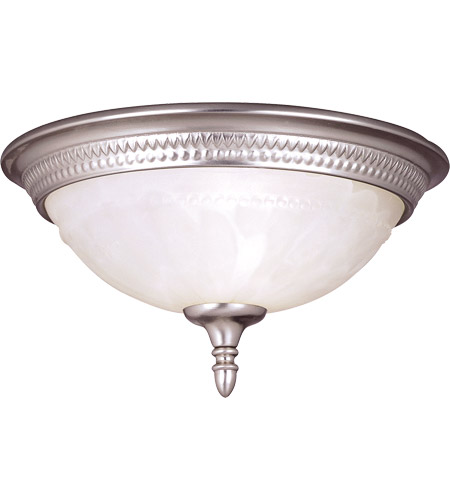 Savoy House KP-6-506-11-69 Spirit 1 Light 11 inch Pewter Flush Mount Ceiling Light in White Marble photo