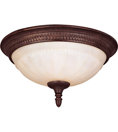 Savoy House KP-6-506-13-40 Liberty 2 Light 13 inch Walnut Patina Flush Mount Ceiling Light in Cream Marble photo