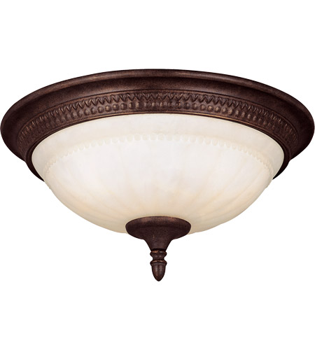 Savoy House Liberty 3 Light Flush Mount in Walnut Patina KP-6-506-15-40