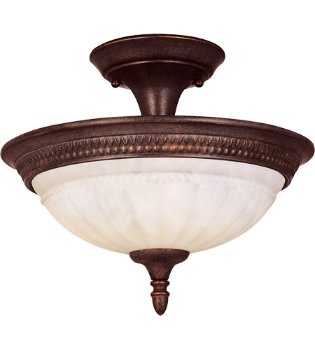 Savoy House Liberty 2 Light Semi-Flush in Walnut Patina KP-6-507-2-40