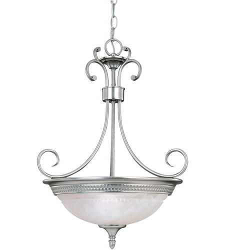 Savoy House KP-7-505-3-69 Spirit 3 Light 17 inch Pewter Pendant Ceiling Light in White Marble photo