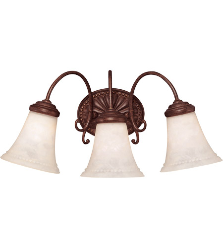 Savoy House Liberty 3 Light Vanity Light in Walnut Patina KP-8-510-3-40