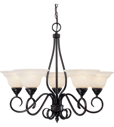Savoy House KP-94-5-13 Oxford 5 Light 28 inch English Bronze Chandelier Ceiling Light photo