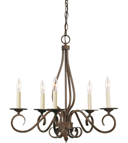 Savoy House KP-95-5-91 Bryce 5 Light 24 inch Sunset Bronze Chandelier Ceiling Light photo