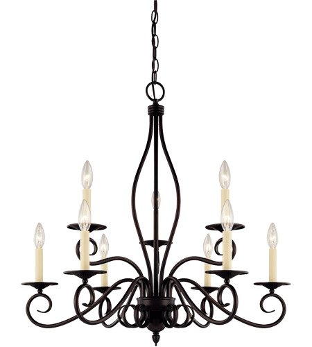 Savoy House KP-99-9-13 Oxford 9 Light 29 inch English Bronze Chandelier Ceiling Light photo
