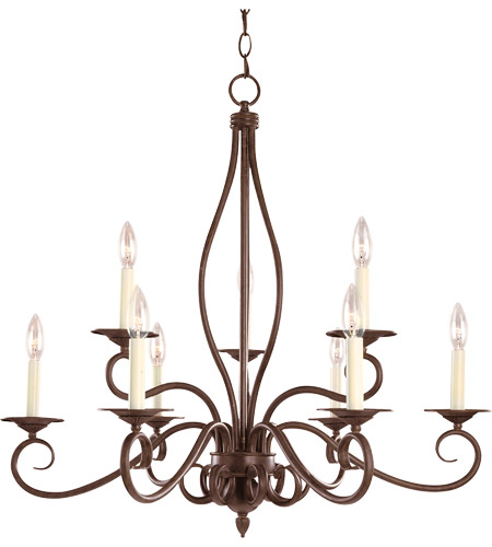 Savoy House Bryce 9 Light Chandelier in Sunset Bronze KP-99-9-91 photo