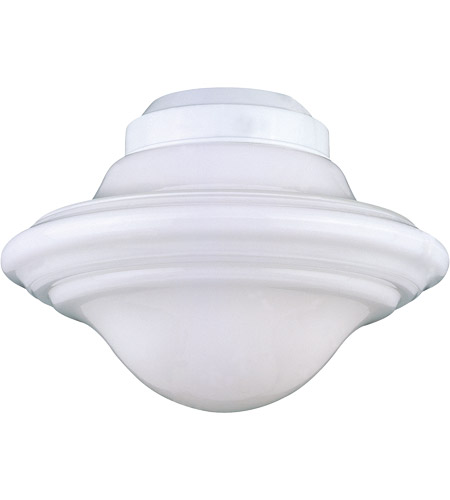 Savoy House Signature 1 Light Fan Light Kit in White KP-FLGC-PF-WH