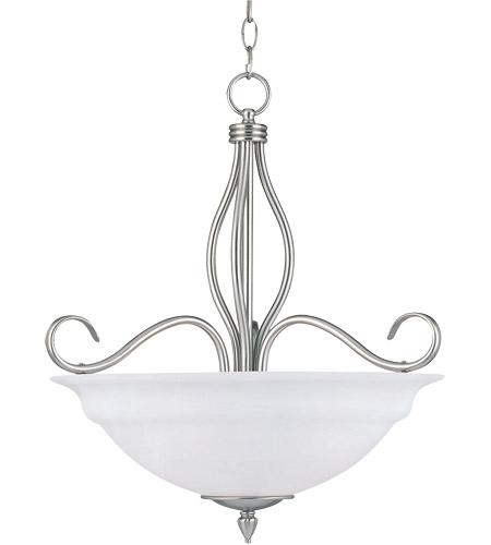 Savoy House KP-SS-113-3-69 Polar 3 Light 19 inch Pewter Pendant Ceiling Light in White Faux Alabaster photo