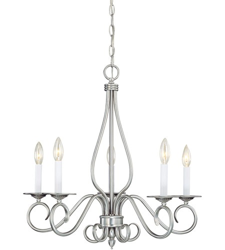 Savoy House Polar 5 Light Chandelier in Pewter KP-SS-114-5-69