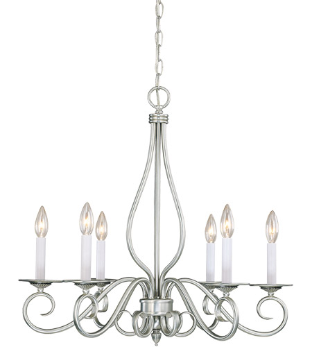 Savoy House Polar 6 Light Chandelier in Pewter KP-SS-116-6-69