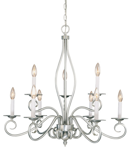 Savoy House KP-SS-117-9-69 Polar 9 Light 29 inch Pewter Chandelier Ceiling Light photo