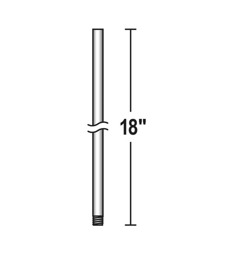 Savoy House 18 Inch Fan Accessory Fan Down Rod in 109 Finish DR-18-109