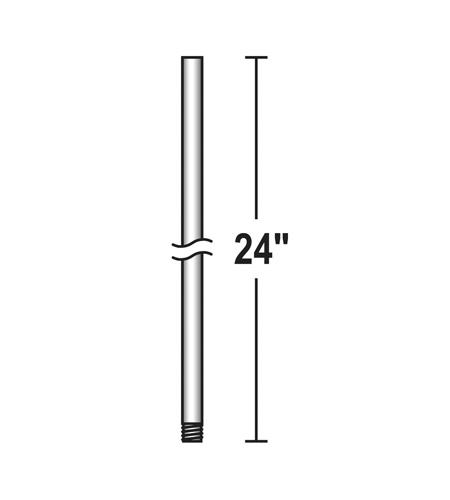 Savoy House 24 Inch Down Rod Fan Accessory in Satin Nickel DR-24-SN