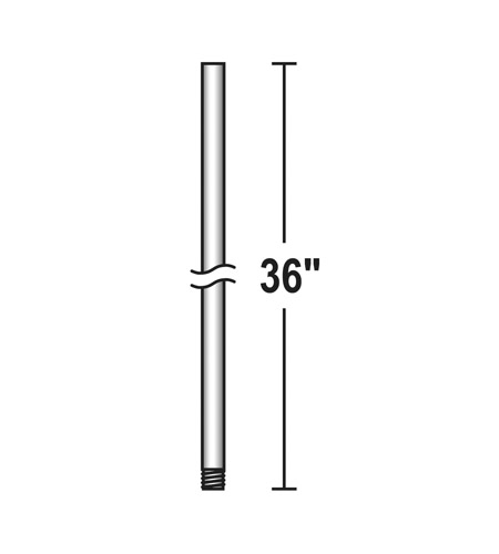 Savoy House 36 Inch Fan Accessory Fan Down Rod in White DR-36-WH