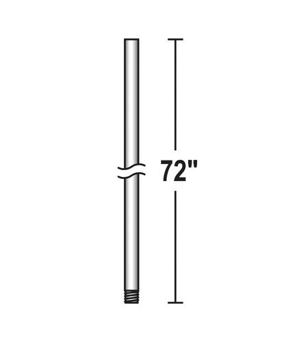 Savoy House 72 Inch Fan Accessory Fan Down Rod in White DR-72-WH